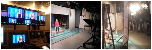 Momentos del rodaje del vídeo en el CEMAV de la UNED